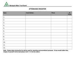 Weekly Attendance Register Template
