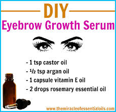 diy eyebrow growth serum for thick full eyebrows
