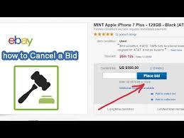 How To Cancel A Bid Retract On Ebay Com Auction 2017 Youtube