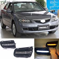 2006 Mazda 6 Lights Us 42 35 23 Off Car Flashing 2pcs Drl For Mazda 6 Mazda6 2005 2006 2007 2008 2009 Daytime Running Lights Daylight With Turn Yellow Signal Lamp In