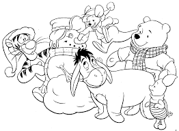 Simple christmas coloring page for children : Disney Christmas Coloring Pages Best Coloring Pages For Kids