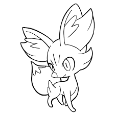 Coloring is a great way to spend quality time with your child. Pokemon Fennekin Coloring Pages Page 1 Line 17qq Com
