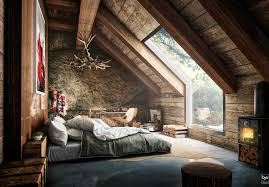 Comfortable And Cozy  Attic Apartment Inspirations - Attic bedroom
