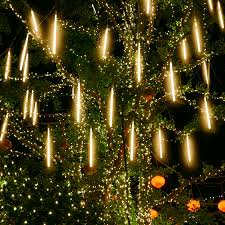 Led Icicle Drip Lights In Motion Us 9 98 30 Off Thrisdar 50cm Rain Drop Light 8 Tube Led Meteor Shower Rain Light Icicle Snow Falling Light Holiday Christmas Garden Tree Decor In
