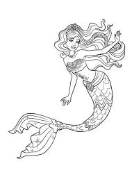 Beautiful Mermaid Coloring Pages Printable Coloringstar