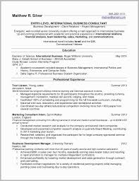 Sample Of Good Resume Impressive Good Resume Examples For College Graduates Free Download