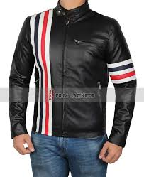 white red and blue stripe jacket