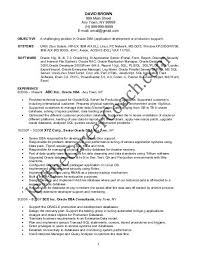 Oracle Dba Cv Download The Oracle Dba Resume Sample One In Pdf