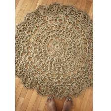 jute crochet doily rug pineapple pattern 45 ready to ship