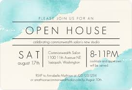 Open House Business Invitations Modern Watercolor Corporate Open House Invitation Business Open
