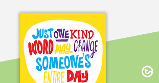 just one kind word positivity poster