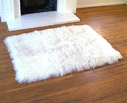 round faux fur rug decoration flooring furry area rugs faux white small sheepskin fur rug regarding