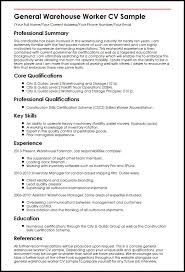 Interesting Design Warehouse Job Description For Resume Warehouse
