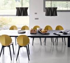 calligaris dining chair. Calligaris Basil Dining Chair Wood- Mustard Yellow Seat \u0026 Graphite Legs L