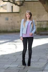 pastel blue pale leather jacket zara