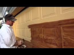 garage door wood lookZ Freeman Woodgrain on garage door  YouTube