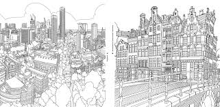 City Coloring Pages For Adults Strange Fantastic Cities A Book Of