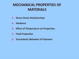 Ppt Mechanical Properties Of Materials Powerpoint