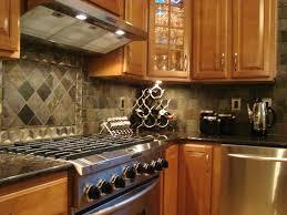 Limestone Kitchen Backsplash Comely Small L Shape Kitchen Design Using Diagonal Grey Limestone