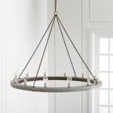 attractive interior architecture remodel marvelous large wood chandelier at geoffrey 48 round crate and barrel