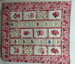 DPL -- Quilts & Scented Tea Time Quilt: Cream and Pink quilt with flowers, tea cups and  butterflies 52x56 1/2