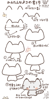 小学生にもオススメボールペンで超簡単なネコのイラストの描き方 ぴぴ