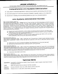 Linux System Administrator Resume Administrator Resume System