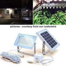 Sunforce 82183  180 LED Solar Motion Light Triple Head 1200 Solar Security Flood Light