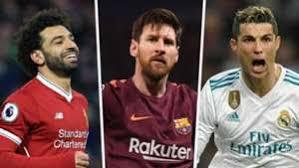 Golden Shoe 2017 18 Messi Salah Europes Top Scorers