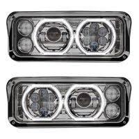 kenworth w900 headlights raney s truck parts led projector headlight assembly chrome finish · kenworth w900 t800