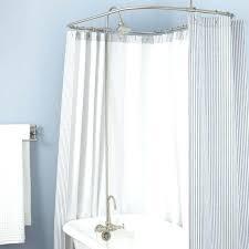 clawfoot shower tub shower conversion kit brass shower head brushed nickel clawfoot tub shower curtain rod