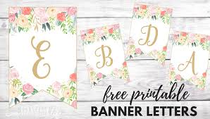 Floral Banner Printable Free Alphabet