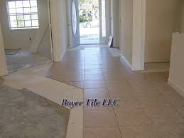 ceramic tile installation using large format tile