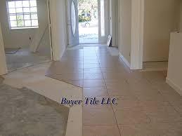 ceramic tile installation using large format tile
