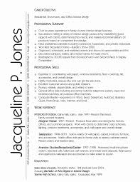 Interior Designer Resume Sample Graphic Designer Resume Sample Word format Beautiful Interior Design 46