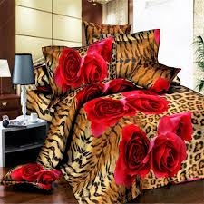 awe inspiring twin size animal print bedding esydream leopard red rose king duvet cover queen