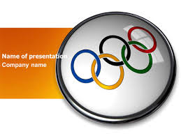 Olympic Symbol Presentation Template For Powerpoint And