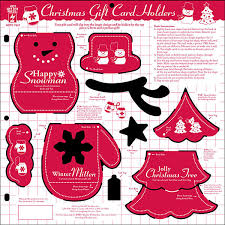 christmas gift card templates christmas gift card holders template
