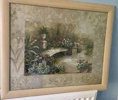 framed garden print by vivian flasch measurements 23in 58cm x 19in 48cm
