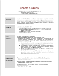 Example Objective Resume Free Resume Templates