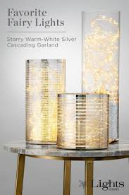 Lights For Glass Vases Starry Bright White Silver Cascading Garland 8 5ft Vase
