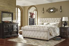 tufted bedroom furniture. tufted sleigh bed queen headboard and frame king ashley furniture bedroom d