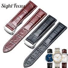 italian calfskin leather watch straps for omega watch seamaster sdmaster de ville band 19mm 20mm 21mm watch belt men bracelet band width 19mm band color