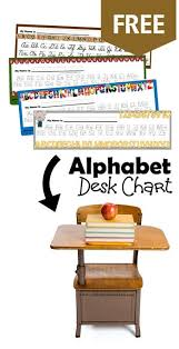 Free Alphabet Desk Chart 123 Homeschool 4 Me