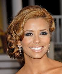 eva longoria parker updo long curly formal wedding updo light brunette auburn