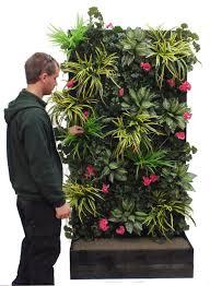 artificial green wall vertical garden in timber trough description