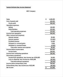 50 Examples Of Income Statement Examples