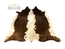 details about small cowhide rug brown white hair on cow hide area rugs for