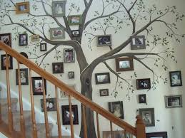 family tree picture on stairs