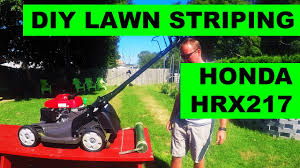 diy lawn striper for honda hrx lawn mowers